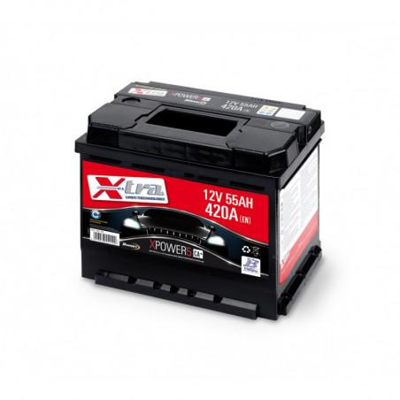 Batteria Auto - Accumulatore 12V 55 AH X-TRA pronta all'uso