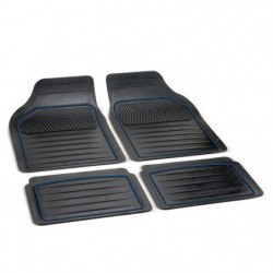 "Set 4 pz tappeti universali in gomma sagomabile ""perfect "" linea blu"