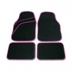 Set tappeti moquette universali Wave rosa 4 pezzi