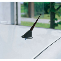 Antenna radio per auto in alluminio 9 cm nero anticorrosione