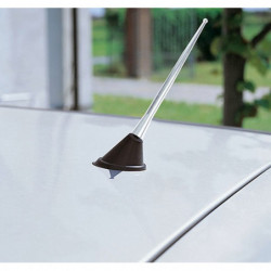 Antenna radio per auto in alluminio 16 cm nero universale