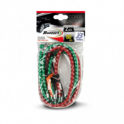 Corde elastiche con gancio 2 PZ CM 80