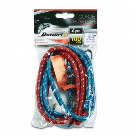 Corde elastiche con gancio 2 PZ CM 100