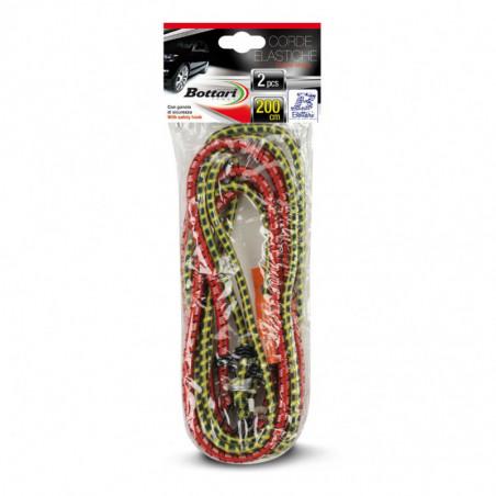 Corde elastiche con ganco 2 PZ CM 200