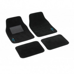 "SET 4 TAPPETI IN MOQUETTE ""MY FLOWER SWIVEL"" - AZZURRO"