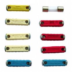 Fusibili cilindrici assortiti cartella da 10 pz