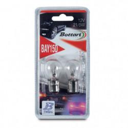 Coppia Lampade auto a 2 luci per segnalatori freccie 12V BAY15D 5/21W
