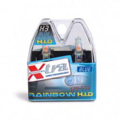 Set 2 pz lampade xenon rainbow blu 12V H3 55 W X-TRA