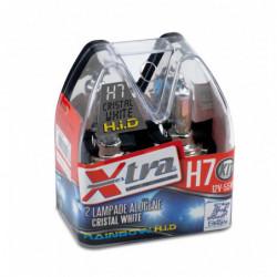 Set 2 pz lampade xenon rainbow blu 12V H7 55 W X-TRA