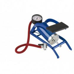 Pompa gonfiaggio Universale a pedale con manometro singolo cilindro