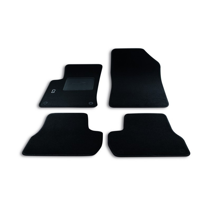 Set tappeti auto su misura in moquette per Citroen Modello C3 (2009-2016)