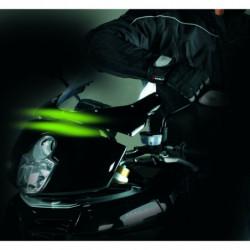 """Strisce flessibili a 3 lampade LED """"SUNRISE"""" Verde per moto 2 pezzi"""
