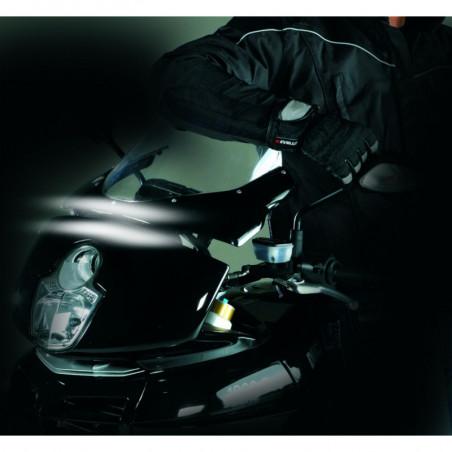 "Strisce flessibili a 3 lampade LED ""SUNRISE"" Bianco per moto 2 pezzi"