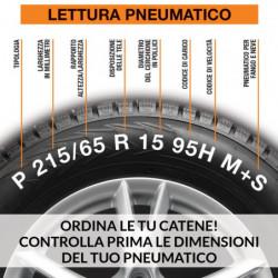 """Catene da neve GULF premium 7 mm """"G7"""" a maglia ritorta mis. 120 - Coppia"""