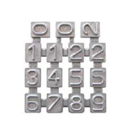 Piastra numeri per collare prodotto serbatoi