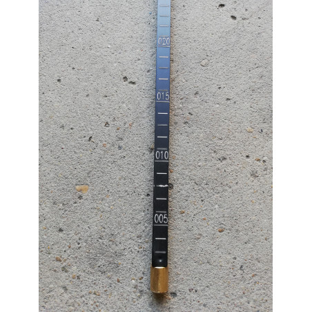 Asta metrica in alluminio anodizzato 160x300 cm