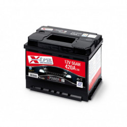 Batteria Auto - Accumulatore 12V 55 AH X-TRA pronta all'uso