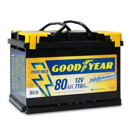 Batteria auto - Accumulatore 12V 80 AH GOODYEAR