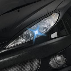 Luci led blu CHARM 4 led per lampada - Coppia