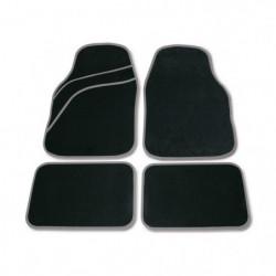 Set tappeti moquette universali Wave grigio 4 pezzi