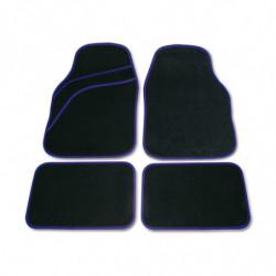 Set tappeti moquette universali Wave blu 4 pezzi