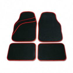 Set tappeti moquette universali Wave rosso 4 pezzi