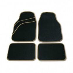 Set tappeti moquette universali Wave beige 4 pezzi