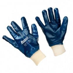 Guanti da lavoro in jersey e nitrile con polso elastico