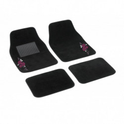 "SET 4 TAPPETI IN MOQUETTE ""MY FLOWER SWIVEL"""