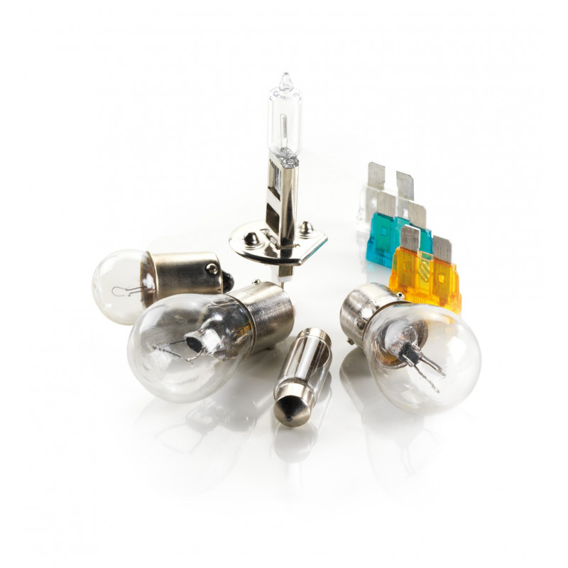 Kit lampade alogene H1+50% di luminosità