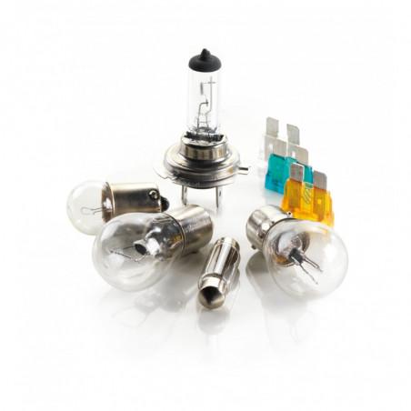 Kit lampade alogene H4+50% di luminosità