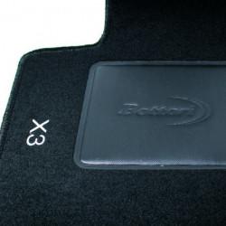 Set tappeti auto su misura in moquette per BMW serie X3 produzione dal 2010 ad oggi.