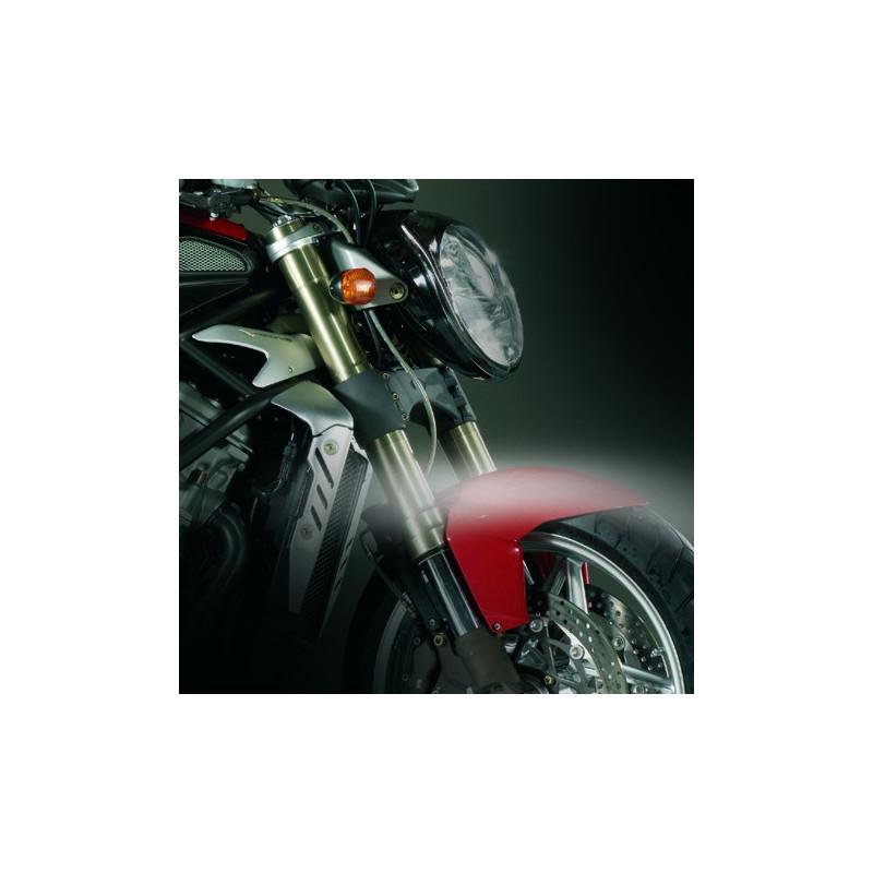 "Strisce flessibili a 5 lampade LED ""SURVIVOR"" Bianco per moto 2 pezzi"