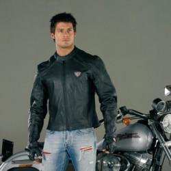Giacca moto Road runner in pelle XL