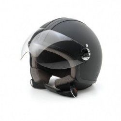 Casco Jet Skin Emotion pelle nero L