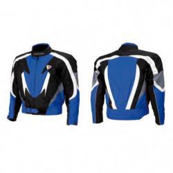 Giacca moto INDIANAPOLIS nero/blu/bianco taglia L