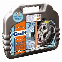 """Catene da neve GULF premium 7 mm """"G7"""" a maglia ritorta mis. 60 - Coppia"""