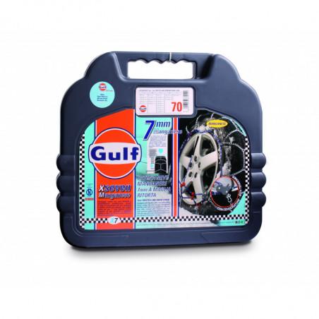 """Catene da neve mis. 130 GULF premium 7 mm """"G7"""" a maglia ritorta"""