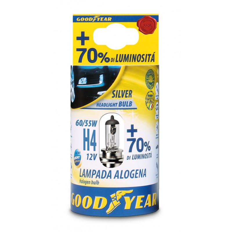 Lampada Alogena H4 12V 60/55W + 70% Luminosità