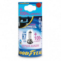 Lampada Alogena H7 12V 55W + 100% Luminosità