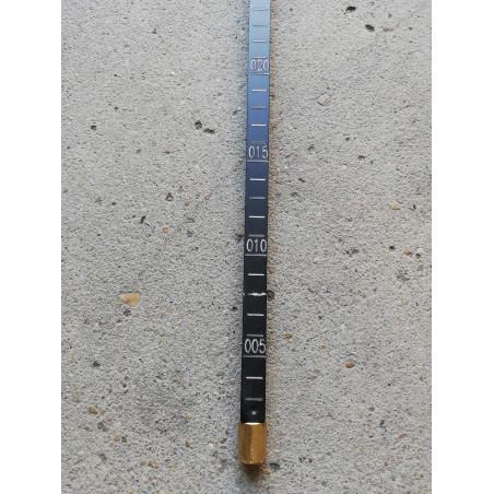 Asta metrica in  alluminio anodizzato 200x300 cm